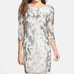 Adrianna Papell Embellished Sheath Dress S.8